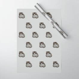 Feed Me And Tell Me I'm Pretty Bear Wrapping Paper