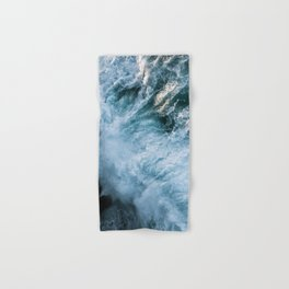 Wave in Ireland during sunset - Oceanscape Hand & Bath Towel