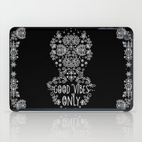 good vibes only iPad Cases featuring Good Vibes Only by Anita Molnár Anita