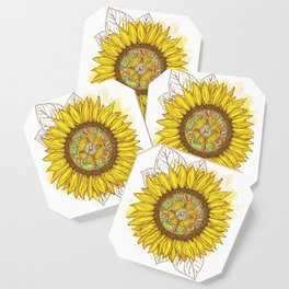 Sunflower Compass Coaster