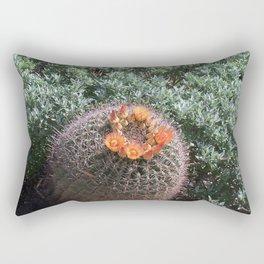 Barrel Cactus #2, Yellow Flowers Rectangular Pillow