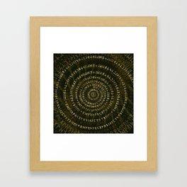 Elder Futhark Spiral Art Framed Art Print