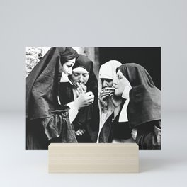 Smoking Nuns Mini Art Print