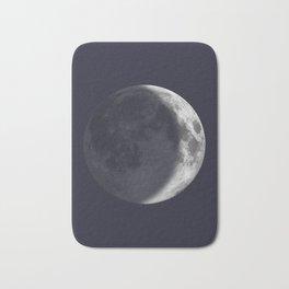 Waxing Crescent Moon on Navy Bath Mat