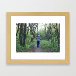 A Spring Walk Framed Art Print