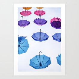 Floating Umbrellas Art Print