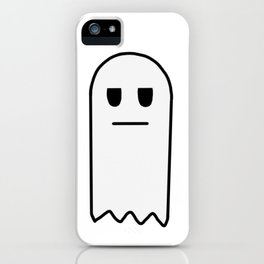 Meh, the Apathetic Ghost iPhone Case