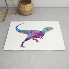 Raptor Watercolor Rug