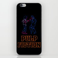 pulp fiction iPhone & iPod Skins featuring Pulp Fiction by Studio 401
