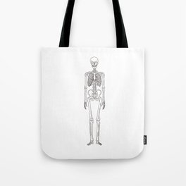 Human body skeleton Tote Bag