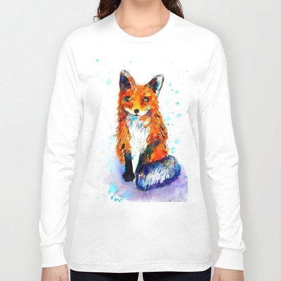 Little Fox in the Snow Long Sleeve T-shirt