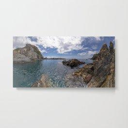 Manarola dock of Cinque Terre Metal Print