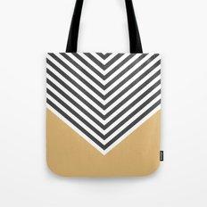 Gold Chevron Tote Bag