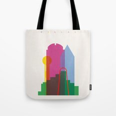 Shapes of Dallas. Accurate to scale. Tote Bag