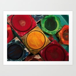 Painting with Colors Art Print