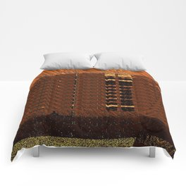 Brown Orange Wisps Comforters