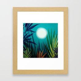 Midnight In The Jungle Framed Art Print