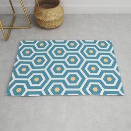 Meandering hexagons in a summerish design Rug