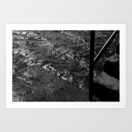 Where dirt meets water Art Print
