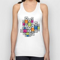 popart Tank Tops featuring ScrollBar PopArt by Roberlan Borges