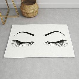 Closed Eyelashes (Both Eyes) Rug