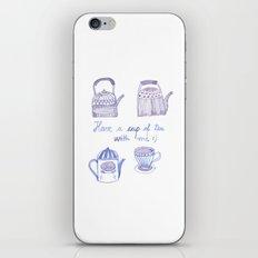 Decorative teapots iPhone & iPod Skin