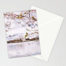 Washington DC Cherry Blossoms - Thomas Jefferson Memorial III Stationery Cards