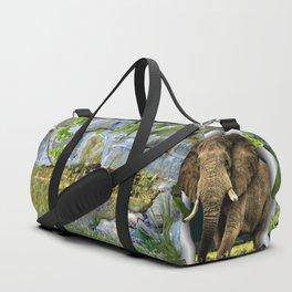 African Elephant Duffle Bag