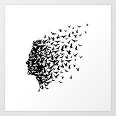 Bird Man Art Print