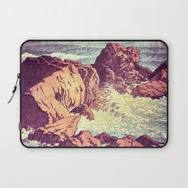Stopping by the Shore at Uke Laptop Sleeve