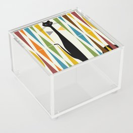 Mid-Century Modern Art Cat 2 Acrylic Box