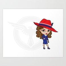 Miss Union Jack Art Print