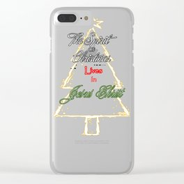 Christmas Spirit Clear iPhone Case