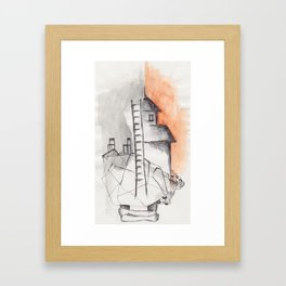 orange arms Framed Art Print