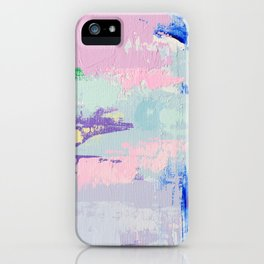 MAVEN 2 // ABSTRACT MIXED MEDIA ON CANVAS iPhone Case