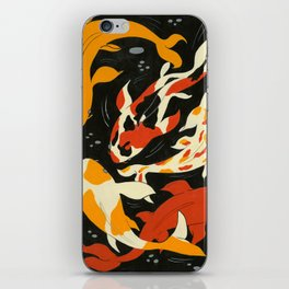 Koi in Black Water iPhone Skin