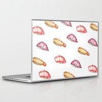 sushi Laptop & iPad Skins featuring Sushi  by kristinesarleyart