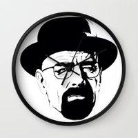 heisenberg Wall Clocks featuring Heisenberg by Renan Lacerda