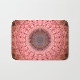 Mandala in brown and pink tones Bath Mat