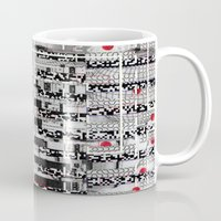 u2 Mugs featuring Opportunistic Species (P/D3 Glitch Collage Studies) by Wayne Edson Bryan