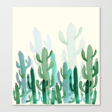 cactus world Canvas Print