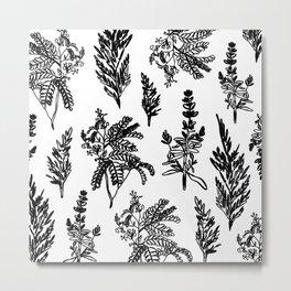 fleur noir Metal Print
