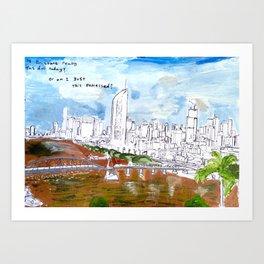 Brisbane Postcard Series 001 Art Print