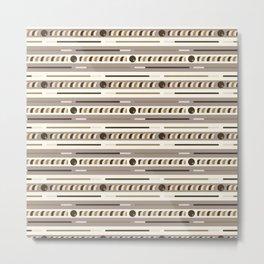 Chocolate Cookie Sticks Horizontal Metal Print