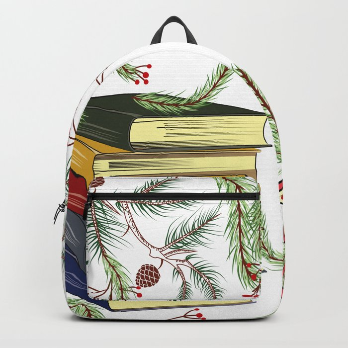 Winter Books and Tea Backpack