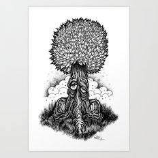 Leaveyes Art Print