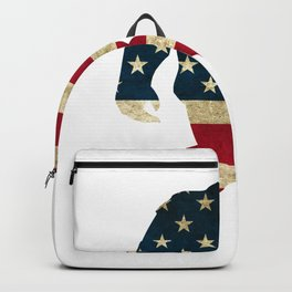 Bigfoot american flag Backpack