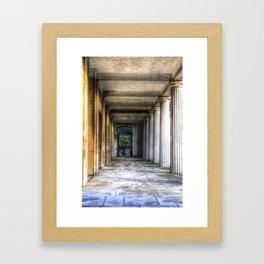 Kensal Green Cemetery  Colonnade Framed Art Print