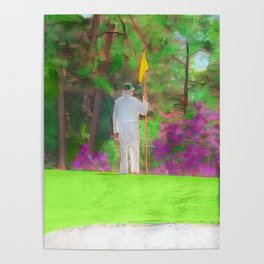 The Masters Golf Tournament - Golf Caddie - Augusta National Poster