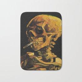 Van Gogh, Skull of a Skeleton with Burning Cigarette  – Van Gogh,Vincent Van Gogh,impressionist,post Bath Mat
